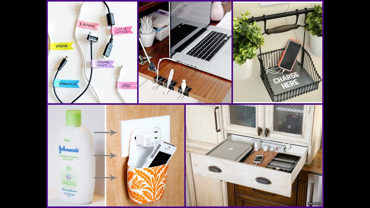 Easy Diy Charging Station Home Organization Ideas