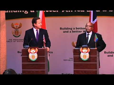 Official visit to South Africa by UK Prime Minister David Cameron