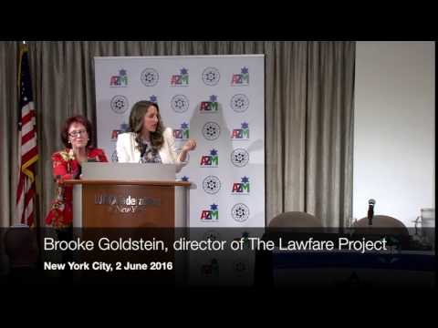 Brooke Goldstein, director of the Lawfare Project