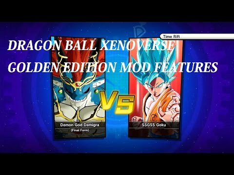 Dragon Ball Xenoverse Final Demigra Vs SSGSS Goku - Golden Edition Mod Trainer PC