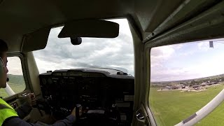 Cross country qualifier Chichester Goodwood Airport take off