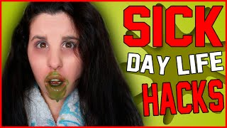 10 DIY Sick Day Life Hacks! | Reality of Being Sick | How To Feel Better at Your Worst!