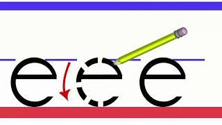 Dik Temel Harfler e sesi düz yazı E harfi düz yazı