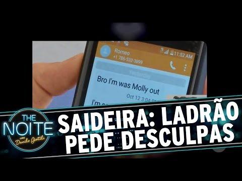 The Noite (19/10/16) - Saideira da Noite: Ladrão manda SMS para vítima pedindo desculpas
