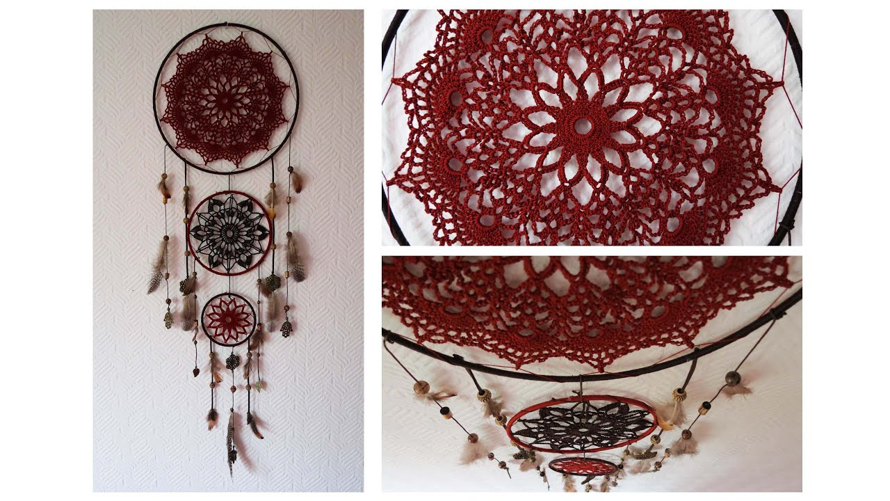 traumf nger selber machen doily dreamcatcher diy eng sub youtube. Black Bedroom Furniture Sets. Home Design Ideas