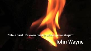 Life's hard John Wayne quote