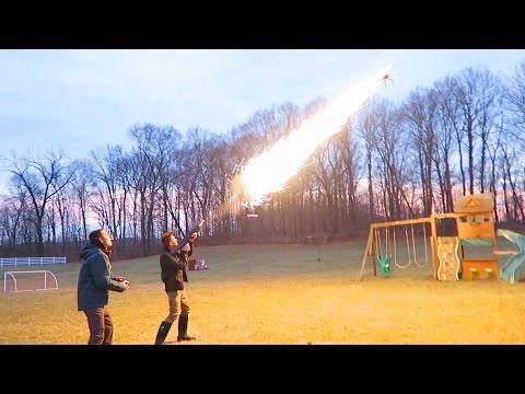DRONE vs FLAMETHROWER!!