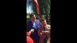 В Литве Саакашвили встретили отец литовской независимости Ландсбергис и министр иностранных дел
