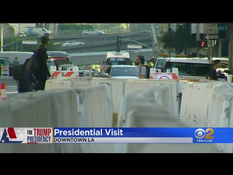 Los Angeles Prepares For Visit From President Trump