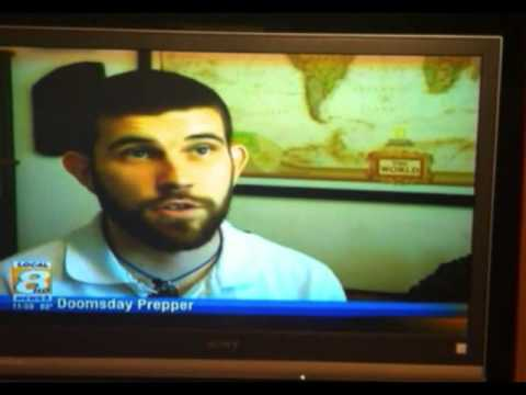 CHANNEL 8 LOCAL NEWS COVERAGE OF 7 TRUMPETS PREPPER CHANNEL APPEARING ON NATIONAL GEOGRAPHIC