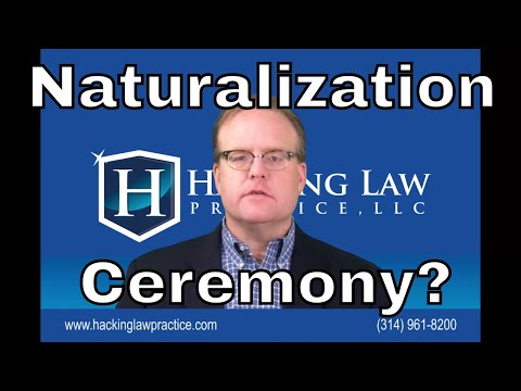 What can I expect to happen at my naturalization ceremony?