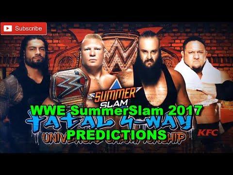 WWE SummerSlam 2017 Universal Title Brock Lesnar vs Roman Reigns vs Samoa Joe vs Braun Strowman thumbnail