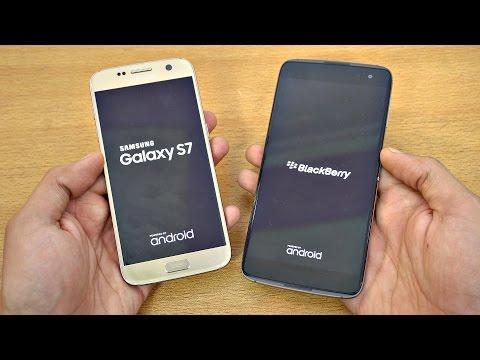 BlackBerry DTEK60 vs Samsung Galaxy S7 - Speed Test! (4K)