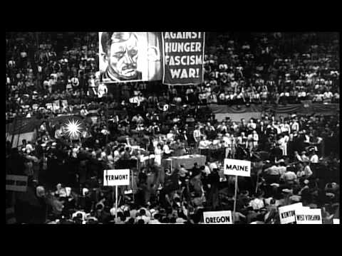 Ninth National Convention of the Communist Party, New York City. Earl Browder and...HD Stock Footage
