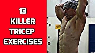 13 Killer Tricep Exercises For Your Arm Workouts