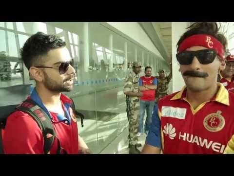 The #RCBInsider delays flight, angers Captain Kohli!