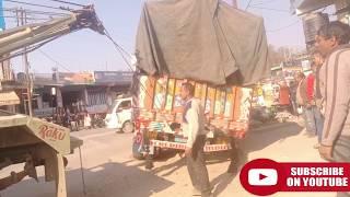 CRANE in ACCIDENTAL TRUCK  RESCUE