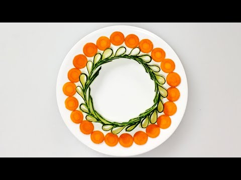 Basic vegetable decoration on plate 05/Food Garnishing and ...