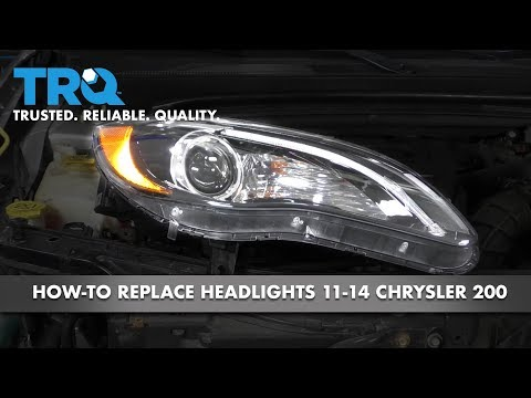 How to Replace Headlights 11-14 Chrysler 200