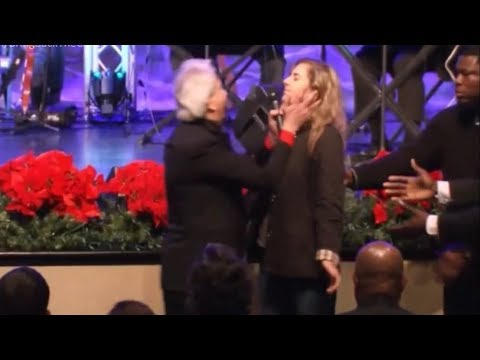 Benny Hinn - God's Spirit Fall on People