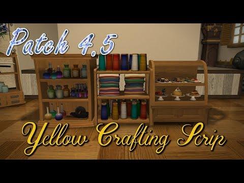 FFXIV: Yellow Crafting Scrip Housing Items