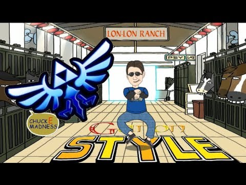 Ganon Style Psy Gangnam Style Chuck E Madness Youtube