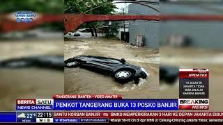 Dahsyatnya Terjangan Banjir di Perumahan Ciledug Indah