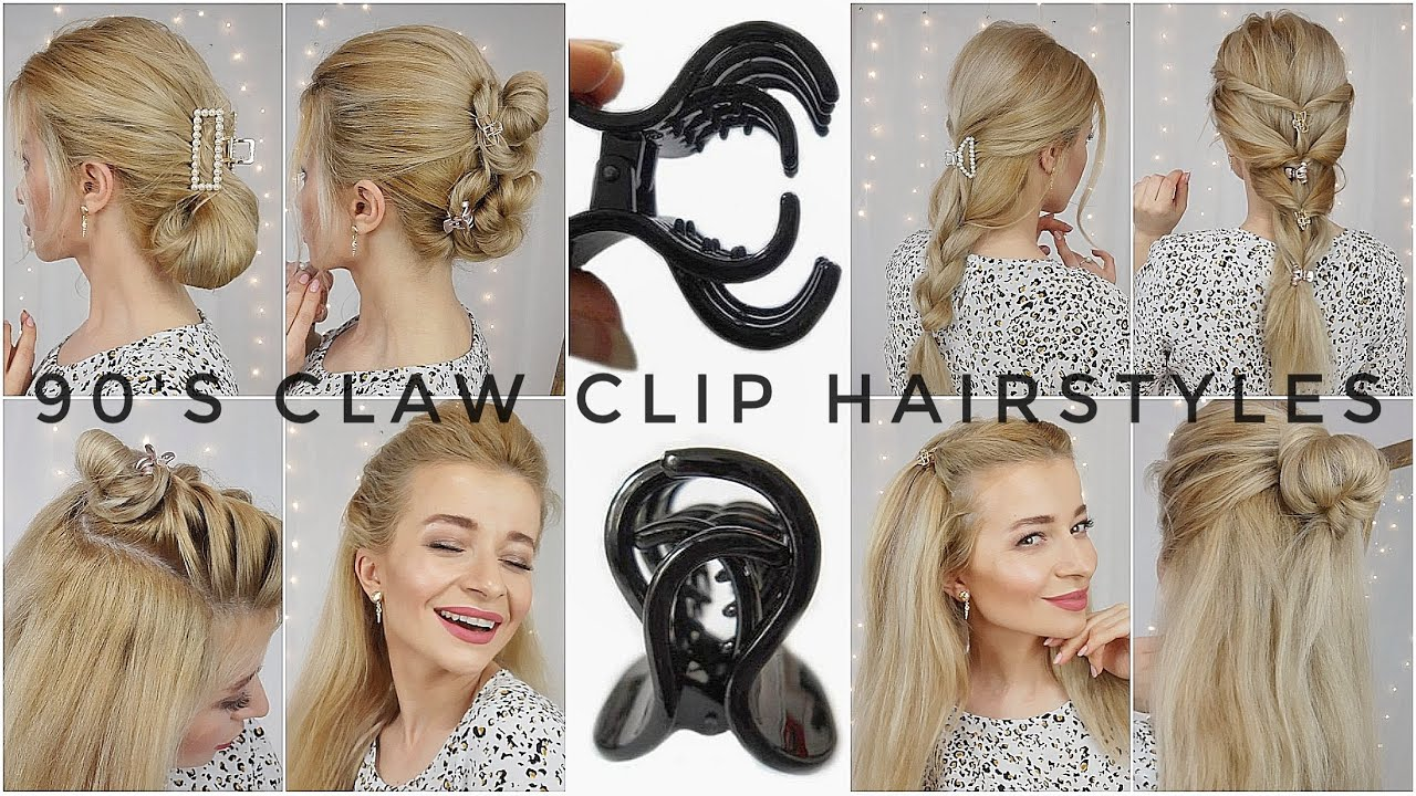 9's CLAW CLIP HAIRSTYLES ❤️ Claw Clip Hairstyles for long hair ❤️ 9's  inspired Hairstyles