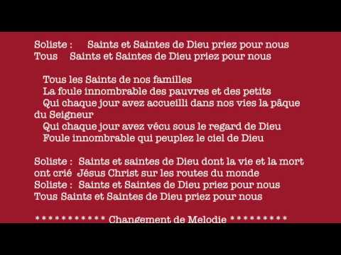 Litanie des Saints - Paques 2014