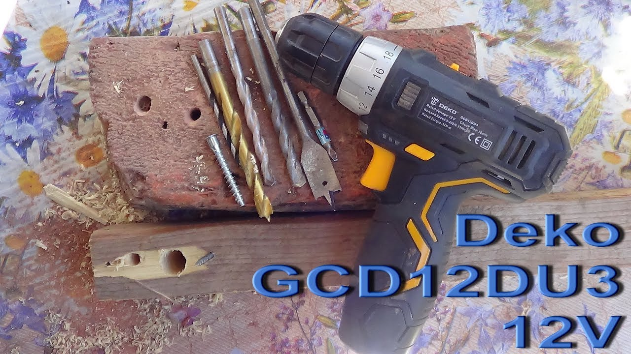 Проверяем на мощность шуруповёрт Deko GCD12DU3 12V