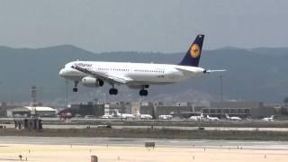 Lufthansa Airbus 321 D-AIRH Landing Barcelona BCN