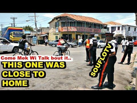 Christiana Jamaica Mad Man and Police situation