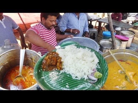 Chicken Rice/Boti Rice/Fish Rice @ 60 Rs Only | Street Food Heaven In India | Hyderabad StreetFood
