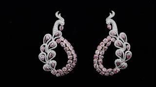 #JCEF05410620# 9.76CT Pink Diamond Earrings Asteria