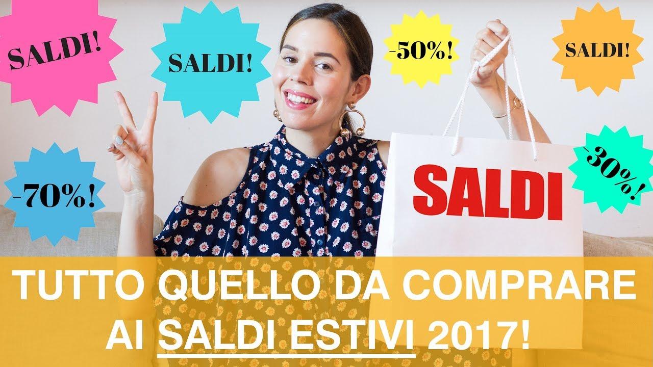 SALDI ESTIVI 2017  cosa comprare ai saldi 2017! - YouTube ca91d021148