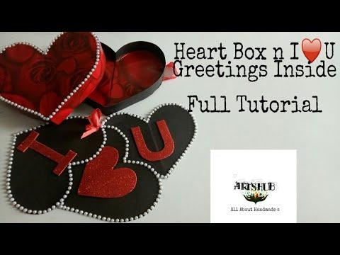 Heart shape Box Making.. Full Tutorial(Valentine special )