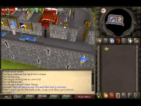 Runescape 2007-Clue Help 06-My home is grey and made of stone;A castle with a search for a meal