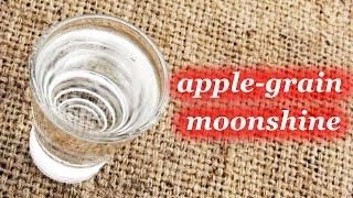 Apple-grain moonshine, homemade recipe
