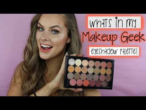 What's In My Makeup Geek Eyeshadow Palette! + Swatches!