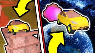 LAUNCHING A TESLA INTO SPACE IN ROBLOX JAILBREAK! *RIP Robux* (Roblox Jailbreak New Update)