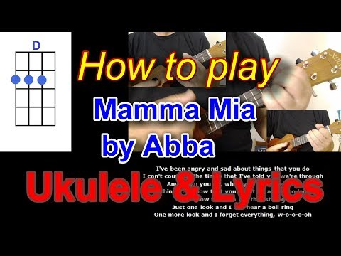 How to play Mamma Mia by Abba Ukulele Cover