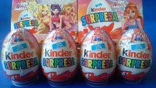 HUEVOS KINDER SORPRESA DE WINX CLUB EN ESPAÑOL. SURPRISE EGGS
