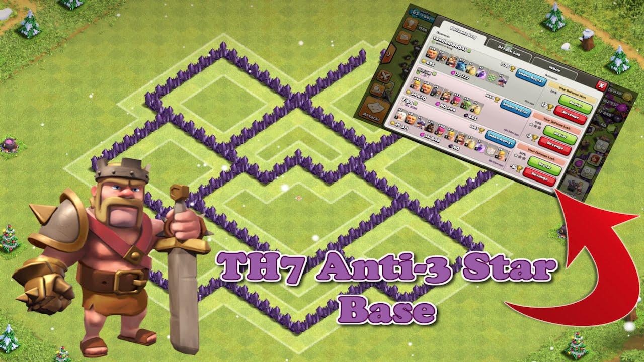 Base Coc Th 7 Anti Bintang 3 7