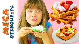 Skittles & M&M`s • Przepyszne Kolorowe Gofry • kreatywne zabawy