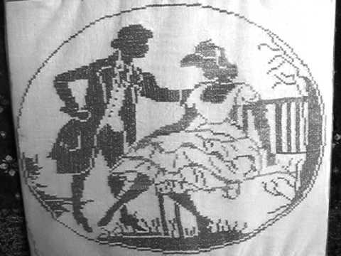 Вышивка дамы и кавалеры