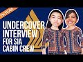 UNDERCOVER INTERVIEW FOR SIA CABIN CREW | TSL Vlogs