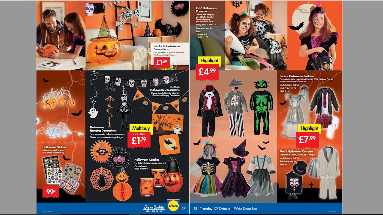 Lidl Vestiti Halloween 2019.Lidl Weekly Special Buys Halloween Edition 12th To 18th October 2017
