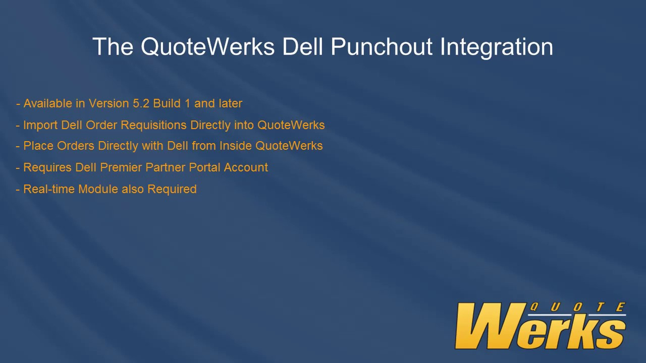 Dell Quote To Order Quotewerks Dell Punchout Integration  Youtube