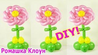 ЦВЕТОК ИЗ ДЛИННЫХ ШАРИКОВ как сделать своими руками Balloon Flower TUTORIAL