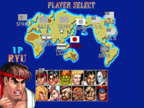 Player Select Extended Street Fighter 2 Youtube